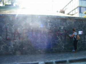 pintada ladrones en Mondragón