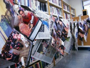 Libros y papeles de revistas