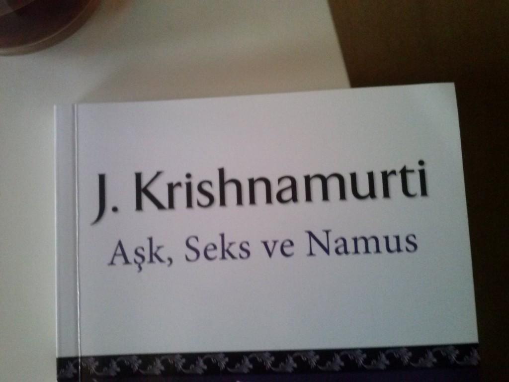 Krishnamurti me recuerda a una amiga