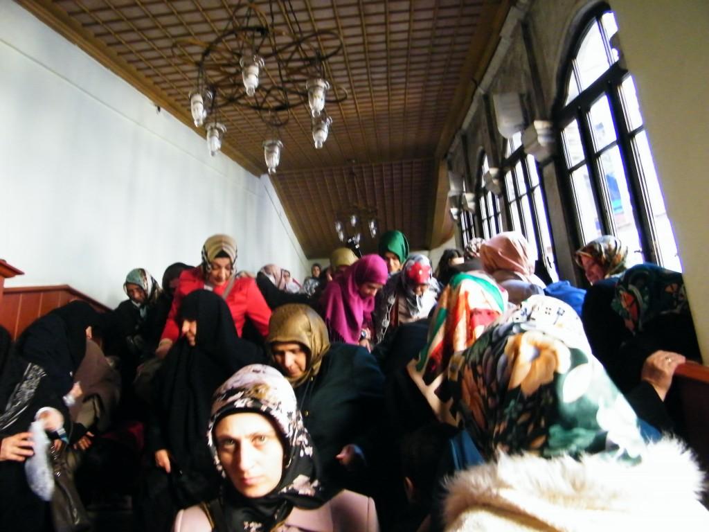 mezquita de Eyüp y mujeres