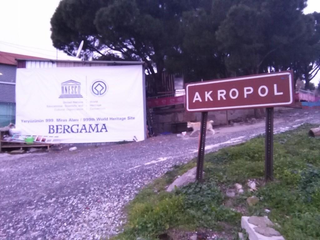 Akropolis en Bergama, Turquía