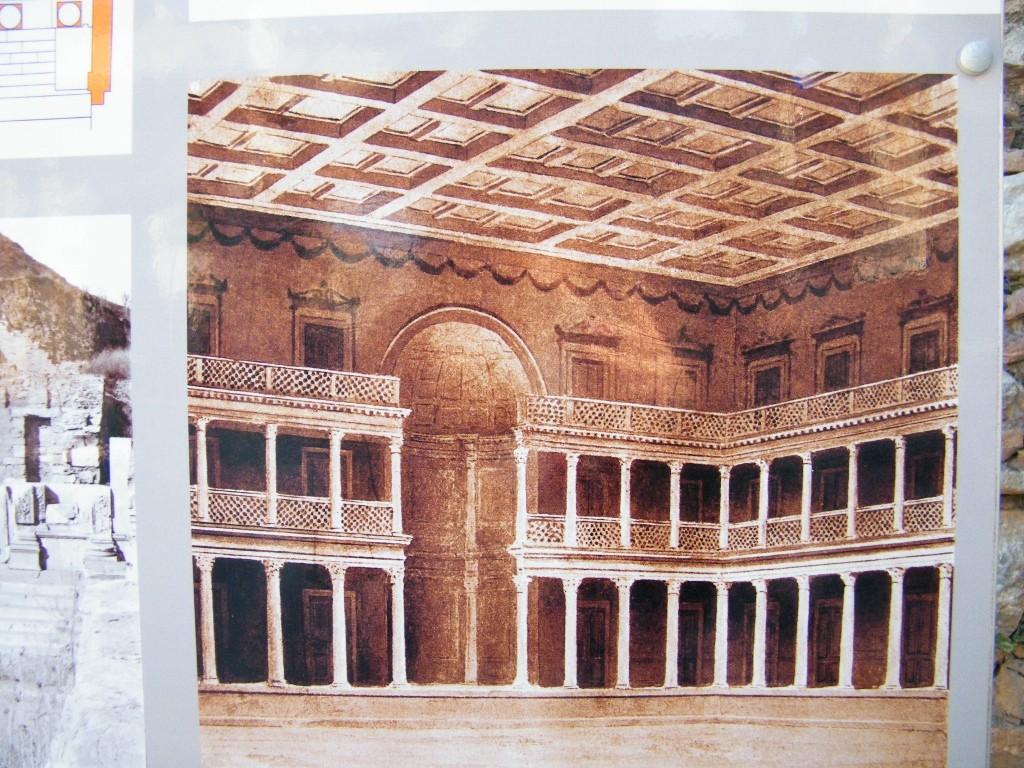 Interior de la biblioteca en ephesus