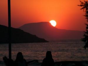 Atardecer precioso en Chania, Creta.