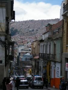 calles de la Paz en Bolivia