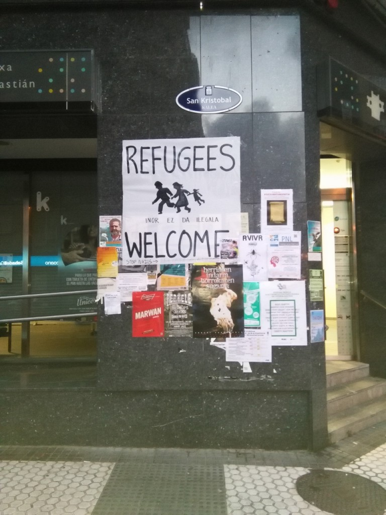 #Refugeeswelcome en San Sebastián