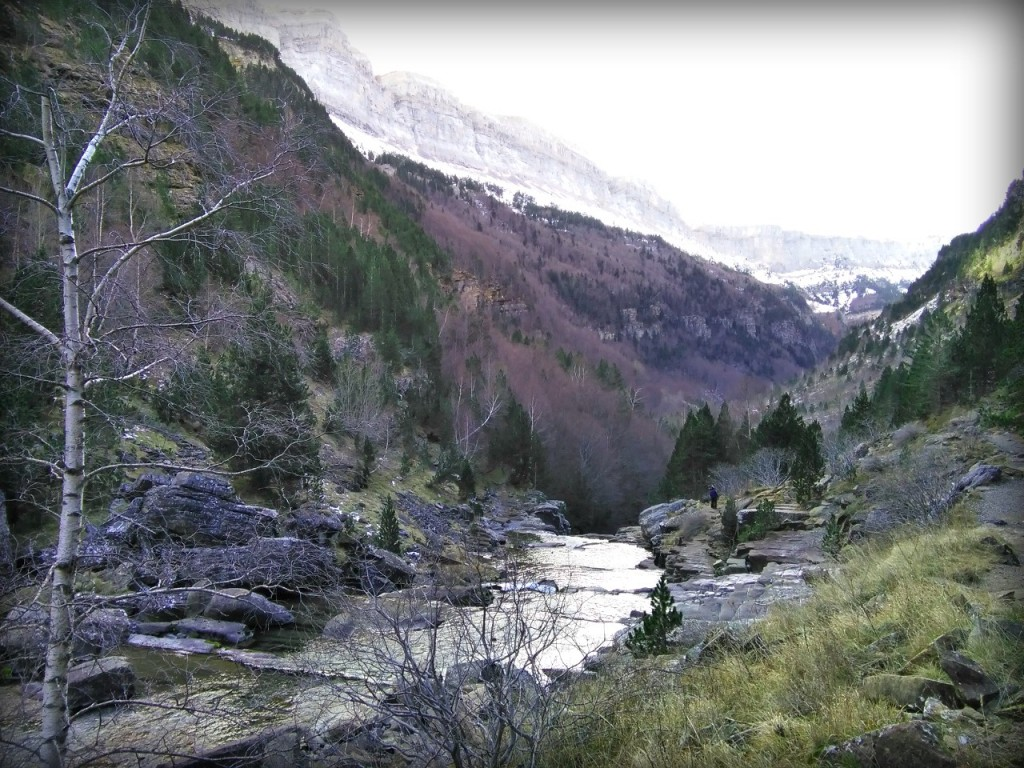 tonalidad sepia en Pirineos