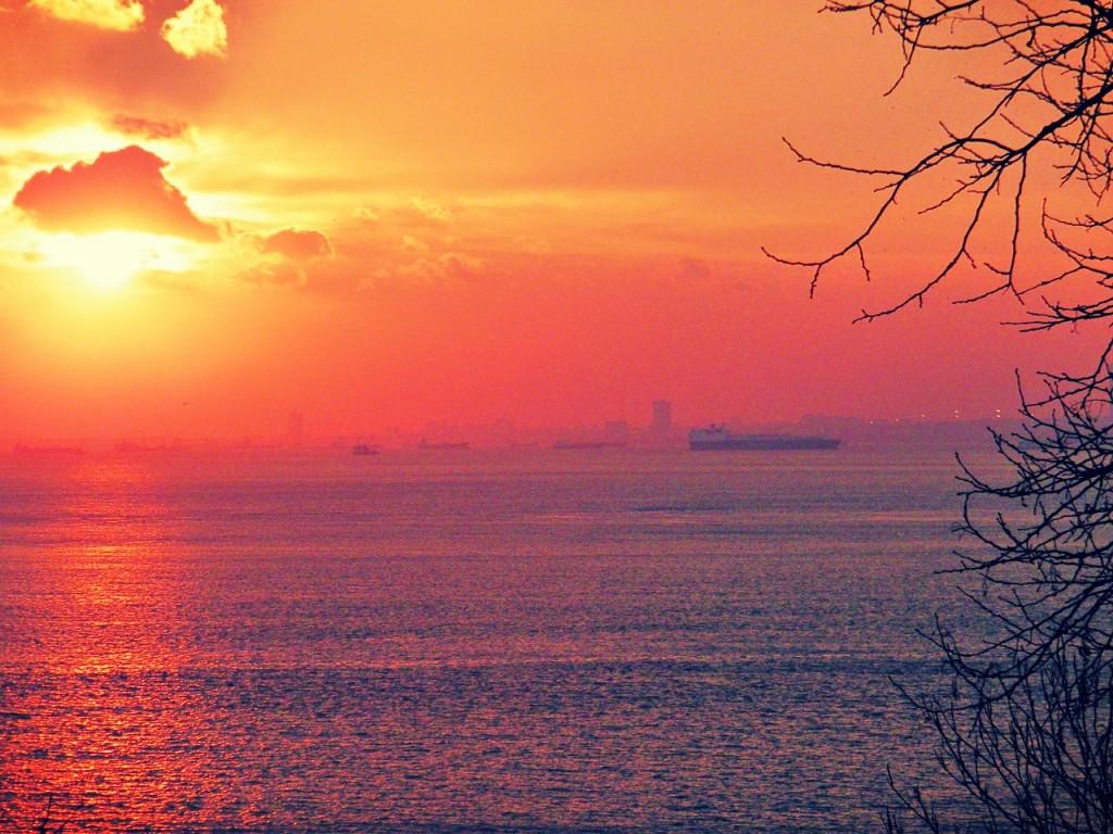 belleza de atardeceres en Turquía