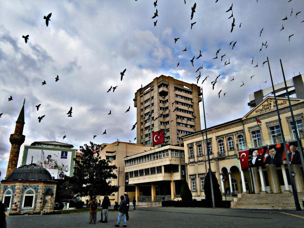 pancarta de Atatürk con Erdogán