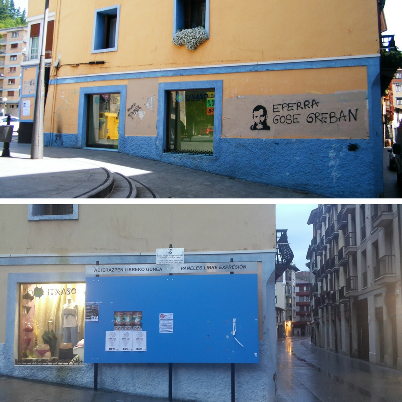 paredes pintadas en el País Vasco