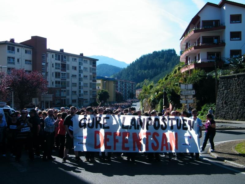 manifestación en contra del cierre de Fagor