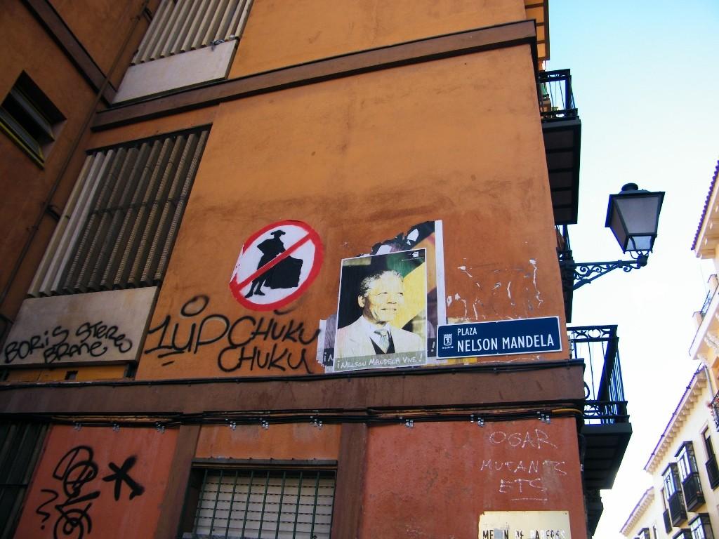 Nelson Mandela en Madrid